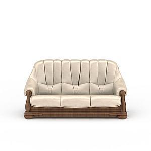 3d白色<font class='myIsRed'>美式沙发</font>模型
