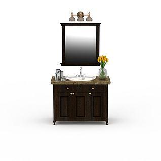 欧式洗手台3d模型