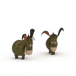 陶瓷小马装饰3d模型