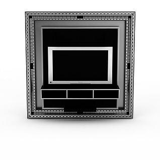 炫酷电视背景墙3d模型