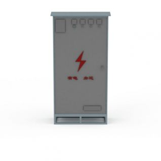 公共电箱3d模型