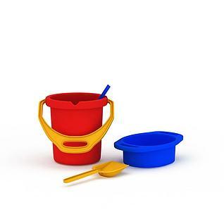 儿童沙滩玩具套装3d模型