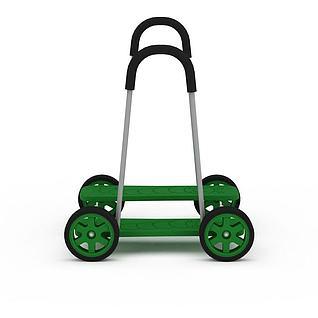 绿色平衡踩踏车3d模型