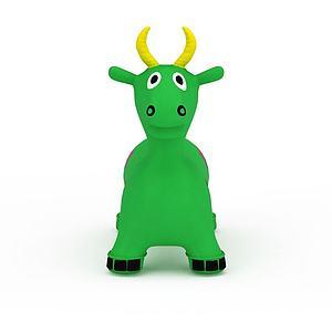 3d綠色<font class='myIsRed'>充氣</font>小牛玩具模型