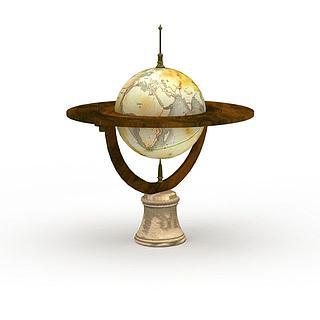 精美<font class='myIsRed'>地球</font>仪装饰品3d模型