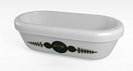 简易欧式浴缸模型