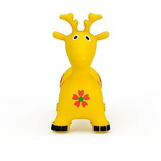 黄色充气小鹿玩具3d模型