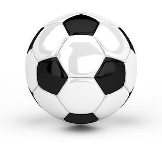 黑白花足球3d模型