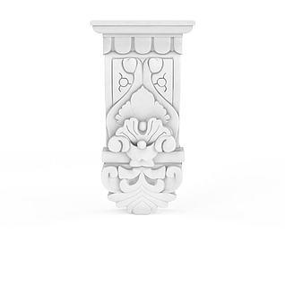 欧式石膏雕花装饰构件3d模型