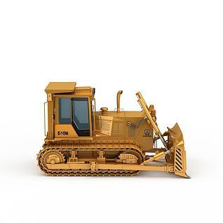精装高科技推土机3d模型