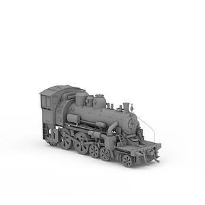 老式火車頭模型