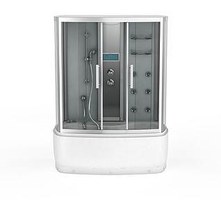 高档浴缸淋浴套装3d模型