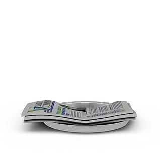 英文报纸3d模型