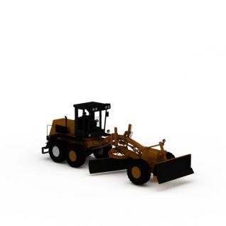机械推土铲车3d模型