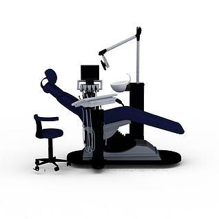 牙科躺椅医疗设备3d模型