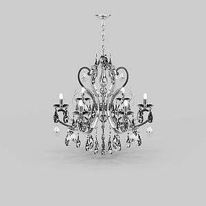 3d豪華<font class='myIsRed'>天鵝</font>造型燭臺式水晶吊燈模型