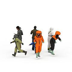 社会各行业人物服饰模特模型3d模型