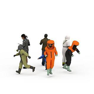 社会各行业人物服饰模特3d模型