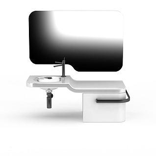 现代创意洗手台3d模型