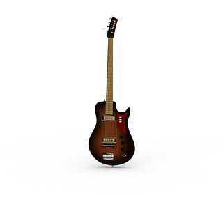 电吉他乐器3d模型