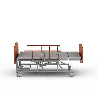 多功能医护床3d模型