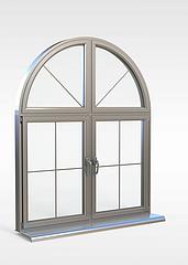 欧式拱形窗3D模型3d模型