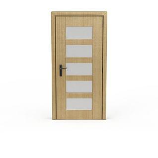 木质卧室门3d模型3d模型