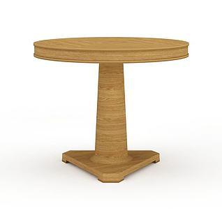 圆形木桌3d模型