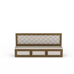 卡座沙发模型3d模型