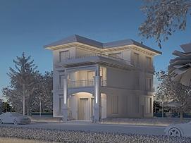 夜景别墅3d模型