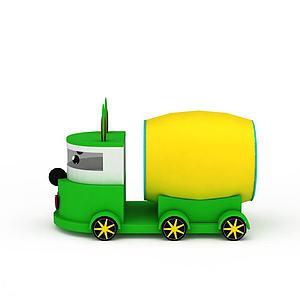 水泥攪拌車模型3d模型