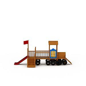 火車滑滑梯模型3d模型