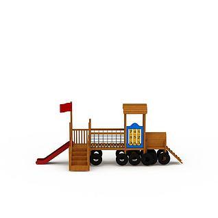 火车滑滑梯3d模型