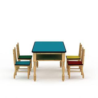 长桌椅3d模型