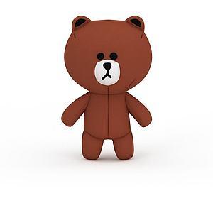 棕色小熊模型3d模型