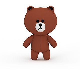 棕色小熊3d模型