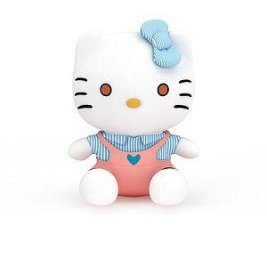 kitty貓模型3d模型