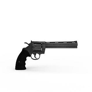 经典黑色小手枪3d模型