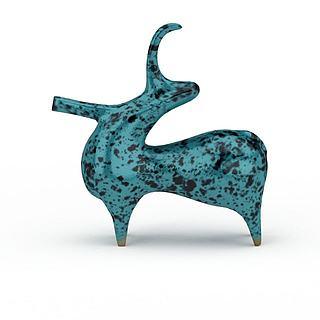 概念<font class='myIsRed'>动物</font>形状装饰品3d模型