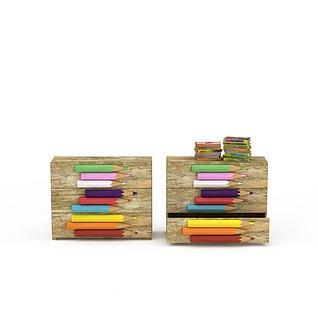 儿童笔盒3d模型