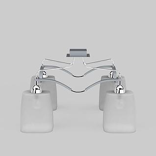 现代简约吸顶灯3d模型