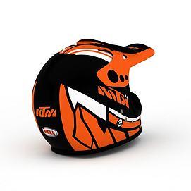 时尚拼色防护头盔模型
