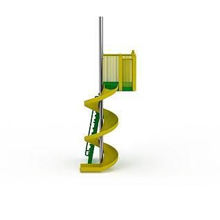 儿童玩具游乐设施滑滑梯3d模型