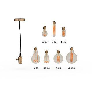 玫瑰金瓦斯灯泡3d模型