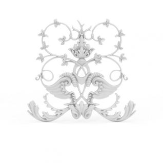欧式精品白色雕花3d模型