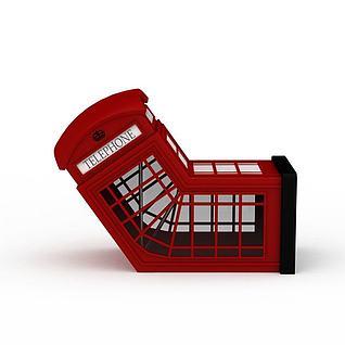概念红色异形亭子3d模型