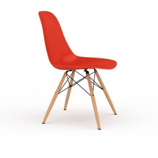 简约红色实木支架椅子3d模型