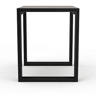 现代方形金属支架木板凳3d模型
