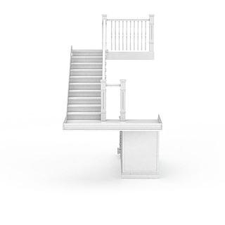 白色<font class='myIsRed'>楼梯</font>3d模型