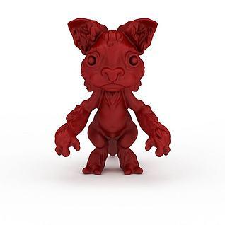 红色小妖3d模型